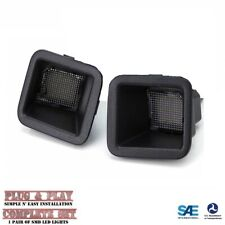 2017-2019 Ford Super Duty F250 F350 LED License Plate Light Smoked Lens L+R Pair