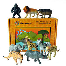 Wild Zoo Safari Animal Toy Figures Set of 9 boxed - direct from the importer