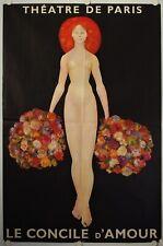 Affiche Théâtre de Paris LE CONCILE D'AMOUR 1969 illustr. LEONOR FINI