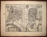 Card Geographic View Roman and Grenoble per Braun and Hogenberg 1572