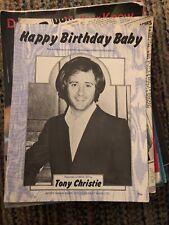 HAPPY BIRTHDAY BABY ~ TONY CHRISTIE  ~ RARE ~ SHEET MUSIC