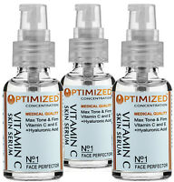 3 PACK - #1 BEST Anti Aging Vitamin C Serum with Vitamin E and Hyaluronic Acid