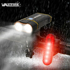 Waterproof 2x L2 LED 20000LM Bicycle light Bike Front Lamp +Warning Rear Light