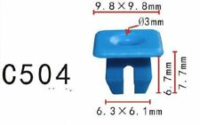 20pcs Fit Ford N802376S Blue Nylon Bumper cover nut - BLIND ANCHOR by Autobahn88