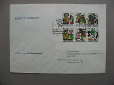 GERMANY DDR, cover FDC 1977, fairytale: How Six Made Their Way in the World