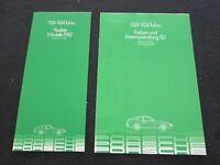 1982 Porsche 924 & 931 Turbo Euro Color Chart Sample Brochure & Price Catalog