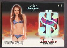 2020 Benchwarmer Sin City Swatch Silver Foil Scarlett Keegan 4/7