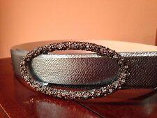 Claudio Orciani blue metallic snakeskin leather belt