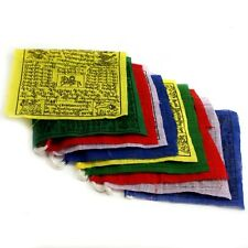 "Buddhist Wind horse Cotton Prayer 100 Flags 6"" Nepal Tibet  Wholesale W(27)"