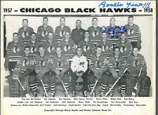 Bobby Hull signed 1957-58 original rookie team photo