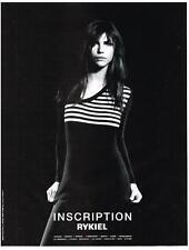 PUBLICITE  1997   INSCRIPTION  RYKIEL  haute couture