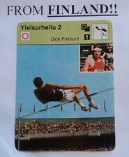 "DICK FOSBURY ""Fosbury Flop"" 1977 FINNISH Sportscaster card HIGH JUMP - Finland"