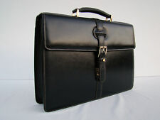 GOLDPFEIL BRAND NEW BLACK LEATHER BRIEFCASE OXFORD LINE- HANDMADE IN GERMANY