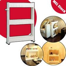Kitchen Bathroom 3 Tier food Storage trolley Shelf Rack Wheels Speace Saver