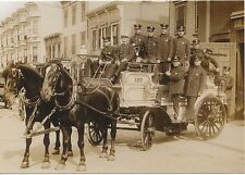 1915 MODERN Bed-Stuy FDNY Firemen Post Card Brooklyn Engine Co 133 on Hull St.