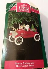 Vintage Collector Hallmark Santas Antique Car Christmas Ornament 1991