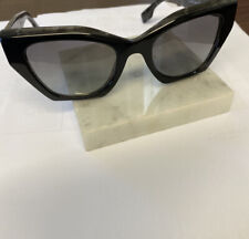 BURBERRY BE4299F 382911 Top Black On Charcoal Women's 52 mm Sunglasses