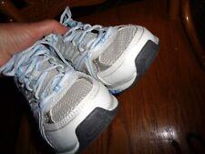 avia tennis shoes size 6 white aqua black silver Preowned