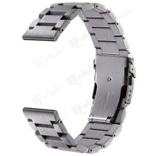 Mens Solid Stainless Steel Watch Band 22 20 18mm Quick Release Strap Double Lock