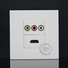 Wall Face Plate 3RCA  AV + HD HDMI Port Socket Assorted Panel Faceplate  Outlet