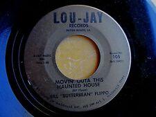 """BATON ROUGE LA POP ROCK 45: BILL """"BUTTERBEAN"""" FLIPPO Haunted House/Just Broke Up"""
