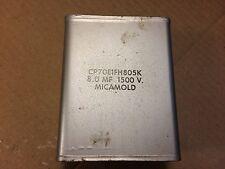 Vintage Micamold 8 uf 1500v Bathtub Oil Capacitor TESTS GOOD Tube Amp Cap
