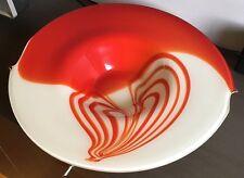 Hand Blown Glass Platter Red