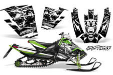 Arctic Cat Sno Pro Race Sled Wrap Snowmobile Decal Graphic Kit NIGHTWOLF WHITE