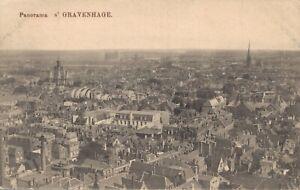 Netherlands Den Haag The Hague Panorama Vintage Postcard 07.23