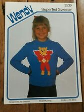 Wendy SuperTed Sweater 2539 Knitting Pattern By Joy Gammon