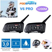 V6 Helmet Intercom 3 Riders Motorcycle Bluetooth Headset Motorbike Interphone