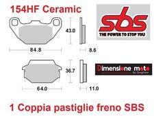 154HF - Pastiglie Freno Posteriori SBS Ceramic per Quad KYMCO MXER 150 dal 2002