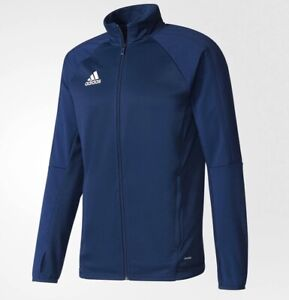 ADIDAS TIRO 17 MENS TRAINING SOCCER JACKET BLUE BQ8199 SIZE XL
