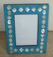 ETHNIC STYLE BLUE AND WHITE PHOTO PICTURE FRAME - T5