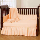 5 Pc Baby Crib Bedding set Fitted Comforter Bumper Pillowcase Dust Ruffle Skirt