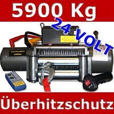 Elektrische Seilwinde Winde 5900Kg 24V 24 Volt Motorwinde Funkfernbedienung LKW