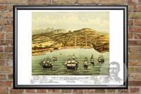 Vintage San Francisco, CA Map 1884 - Historic California Art - Old Victorian