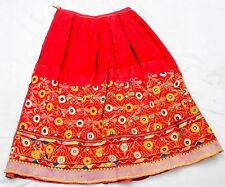 Rabari Kuchi Mirror Ethnic Banjara Tribal Embroidery Gypsy Belly Dance Skirt