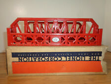 LIONEL O GAUGE  #270 RED SINGLE SPAN BRIDGE PARTIAL BOX