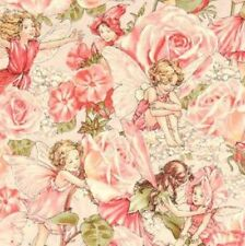 Michael Miller Sweet Garden Flower Fairies Cotton Fabric DC4220-ROSE-D BTY