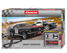 CARRERA 25228 MOST WANTED MUSTANG CAMARO 1/32 SLOT CAR SET EVOLUTION