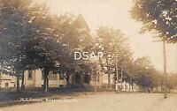 Maine Me Postcard Real Photo RPPC c1910 NEWPORT M.E. Church Building