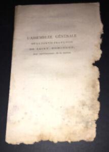 SAINT-DOMINGUE.1790.L'A. G. DE LA PARTIE FRANÇOISE AUX REPRÉSENTANS DE LA NATION