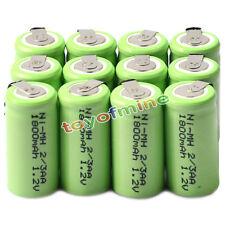 12x  Ni-MH 1.2V 2/3AA 1800mAh rechargeable battery NI-MH Batteries