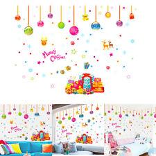 1Pcs Autocollant Sticker Boule Muraux Décor Magasin Fenêtre Noël Enfant Chambre