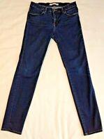 "J Brand Starless Womens Size 28 Skinny Stretch Jeans Dark Blue Denim 28"" Inseam"