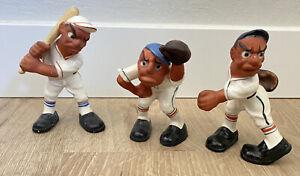 Vintage RITTGERS? Ceramic BASEBALL PLAYERS FIGURINE STATUE SET