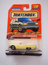 MATCHBOX #16 2000 1957 57 FORD THUNDERBIRD YELLOW GREAT DRIVERS