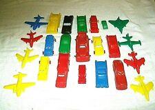 Rare Lot of 23 Vintage Small Soft Plastic Cars Trucks & Planes lot3
