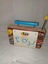 Fisher Price Tv-Radio Windup Ten Little Indians Working 1961-1962